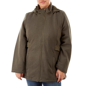 Plus Size Hooded Soft Shell Jacket