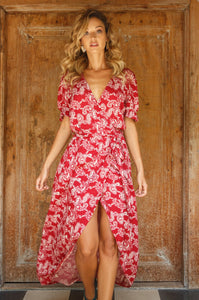 Colorado Wind Long Wrap Dress