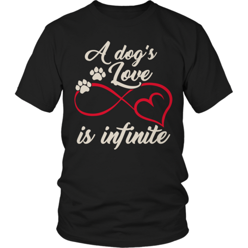 A Dogs Love Is Infinite Black T-Shirt