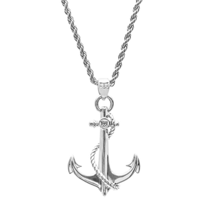 ANCHOR NECKLACE - WHITE GOLD