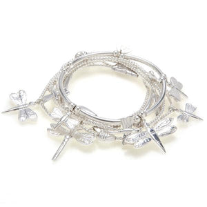 DRAGONFLY BRACELET SET IN STERLING SILVER