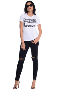 CHAMPAGNE & SWEATPANTS TEE