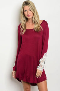The Brooklyn Burgundy Dress