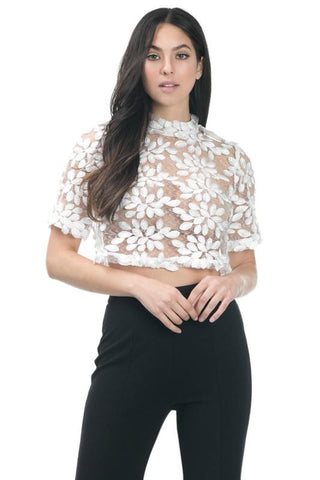 Ana Lace Crop Top