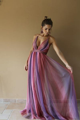 TULL DRESS IN PINK TONES
