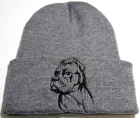 Cane Corso (Cropped Ears) Knit Ski Hat