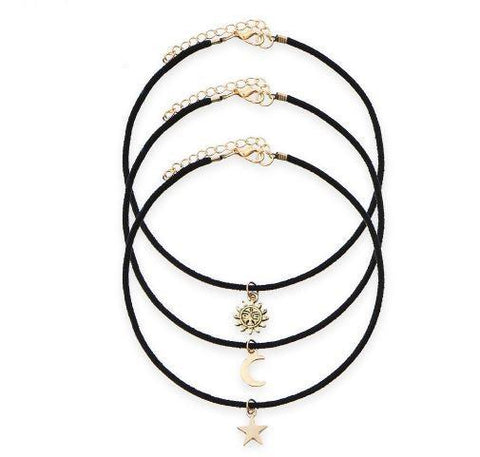 3 Pcs Choker Necklace Set