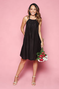 CECILY SILK DRESS IN BLACK