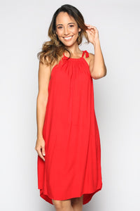 CECILY DRESS IN RED