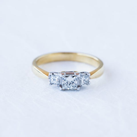 Trilogy Princess Cut Diamond Ring
