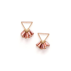 Confetti Triangle Earrings Rose