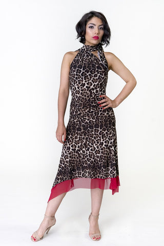 Cat Walk Scandal Kiki Tie Neck Dress