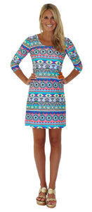 DARBY SHIFT DRESS IN ROYAL RENEGADE