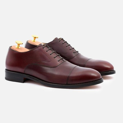 DEAN OXFORD - CALFSKIN LEATHER - BORDEAUX