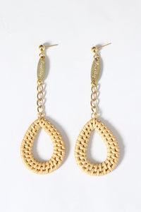 Droplet Natural Woven Earrings