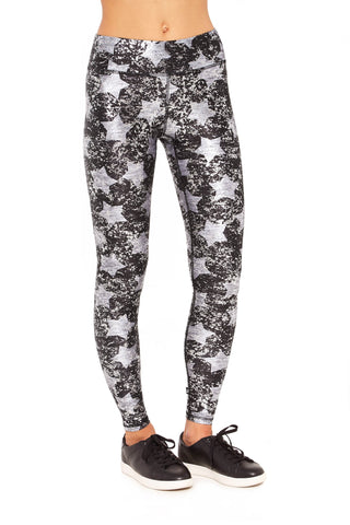 Heathered Stars Dusted Balayage Tall Band Leggings