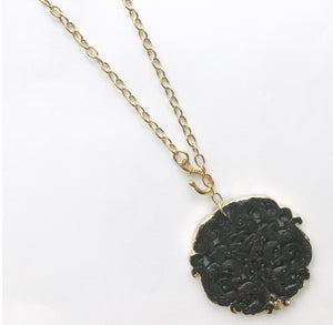 BLACK DRAGON CHAIN NECKLACE