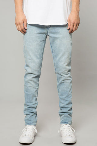 LIGHT INDIGO DENIM SLIM TAPERED PANT