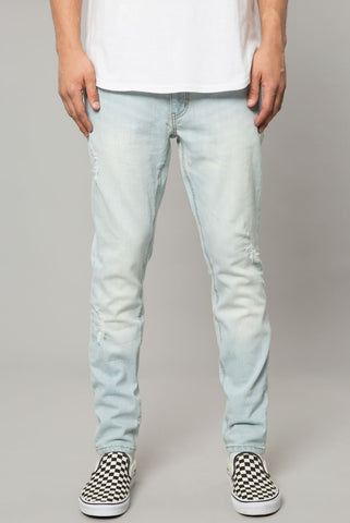 DUSTY INDIGO DENIM SLIM TAPERED PANT
