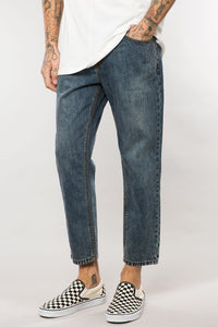 OVERLAND INDIGO DENIM CROPPED DAD PANT