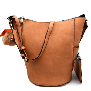 Cara Bucket Shoulder Bag Crossbody with Pouch