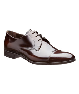 PRADA Cap-Toe Patent Leather Derbies