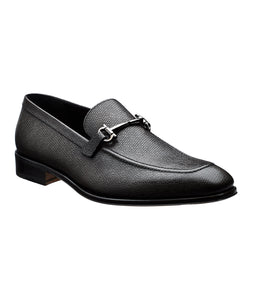 SALVATORE FERRAGAMO Textured Calfskin Loafers