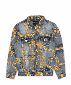 CHAIN DENIM JACKET