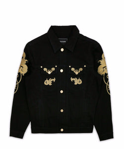 GOLD LEAF DENIM JACKET