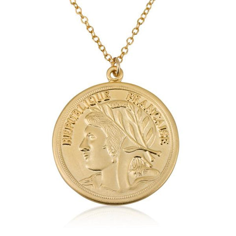 Flip a Coin Necklace - Gold
