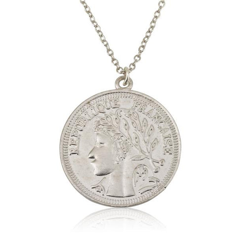 Flip a Coin Necklace - Silver