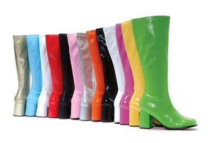 3 Inch Heel Gogo Boots with Zipper in Standard Colors