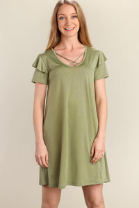 Aster Flutter Sleeve Dress