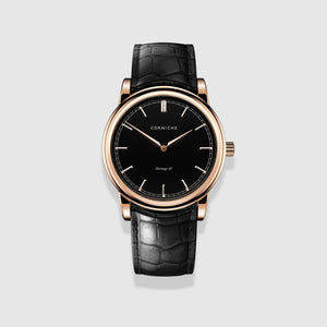 Rose Gold with Black Dial