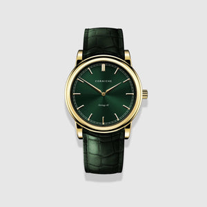 Yellow Gold with Green Dial