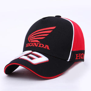 3D Embroidered Wing Honda motorcycle baseball cap