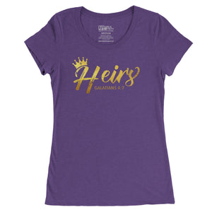 """Heirs"" - Women's Fitted Triblend Tee"