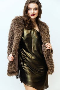 LONG SLEEVE FUR JACKET