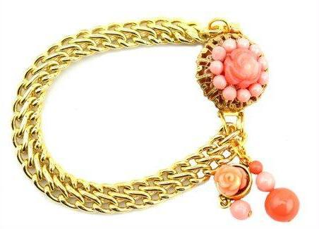 Sugar Gay Isber Coral Vintage Chain Bracelet Contemporary Jewelry