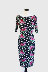 Desie Dress - Flowers Polka Dot With Sleeves