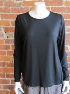 Long Sleeve Black Tee By Comfy USA