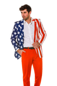 THE NEW AND IMPROVED TOMMY J AMERICAN FLAG BLAZER