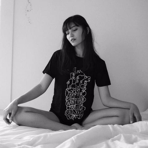SOULLESS FRONT - BLACK - 100% ORGANIC COTTON T-SHIRT - UNISEX