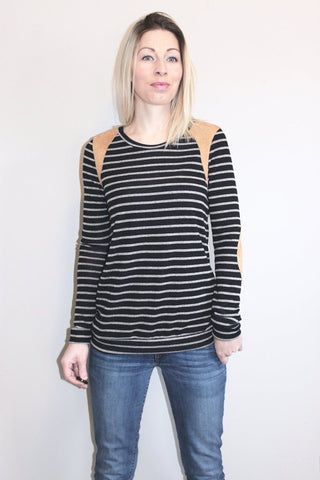 Espresso Striped Top