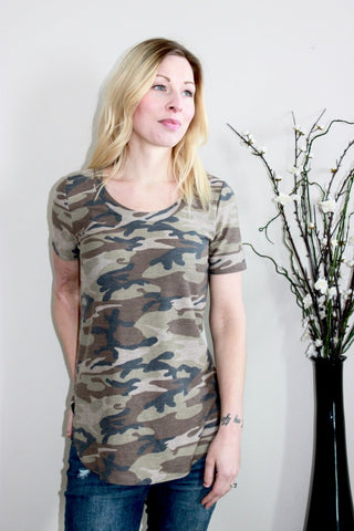 Evergreen Camo Top