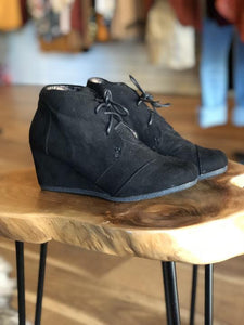Back In Black Suede Ankle Boots