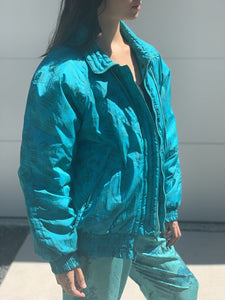 Teal 80s Puff Jacket