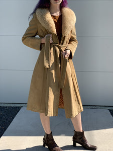 Suede and Fur Penny Lane Coat