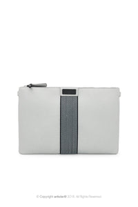 article: #079 Pochette Grande Flat Men - Silver + Indigo