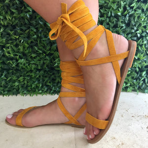 Sal Tie Up Sandals